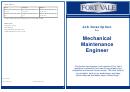 Mechanical Maintenance Engineer