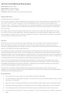 Senior Mid Level Web Designer Job Description Template