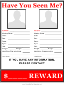 Multiple Missing Persons Poster Template