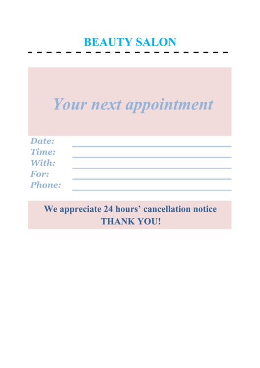 top appointment book templates free to download in pdf format