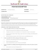 Position Description Template - Call Center Manager