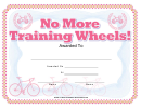 Bike Award Certificate Template
