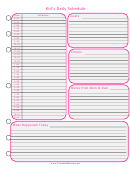 Kid's Daily Schedule Template - Pink