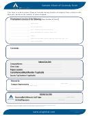 Sample Chain Of Custody Form