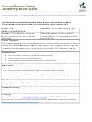 Volunteer Job Description