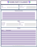Home Party Planner Template