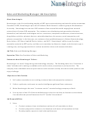 Sales And Marketing Manager Job Description