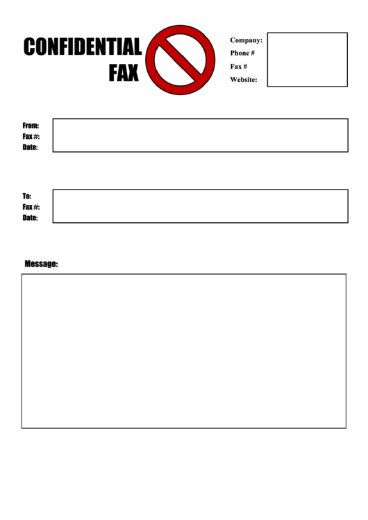 Stop - Confidential Fax Cover Sheet