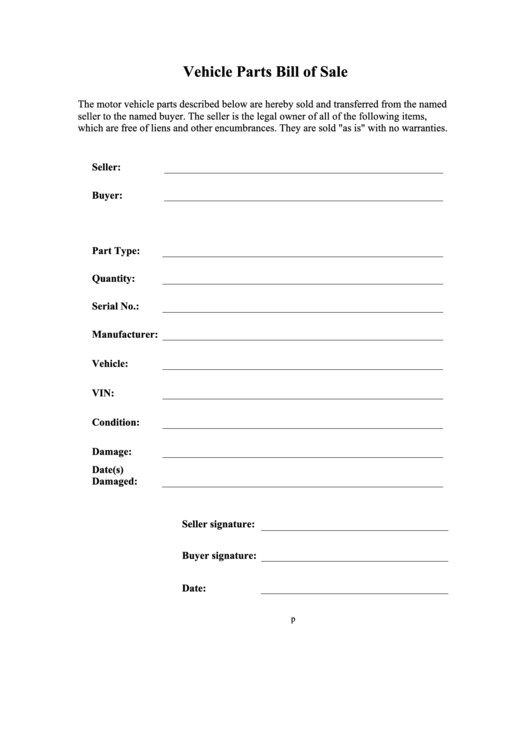 sample blank printable bill of sale for vehicle in pdf amp word - 600×630