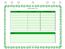 Babysitter List Template - Green