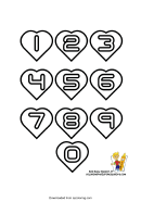 Az Coloring Sheet (numbers In Hearts)