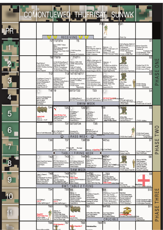 marine boot camp schedule printable pdf download