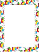 Festive Balloons Party Border Template