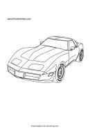 Race Car Coloring Sheet