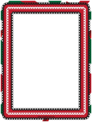 Red White And Green Eyelet Border Template