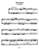 Sonatina In F Major Sheet Music