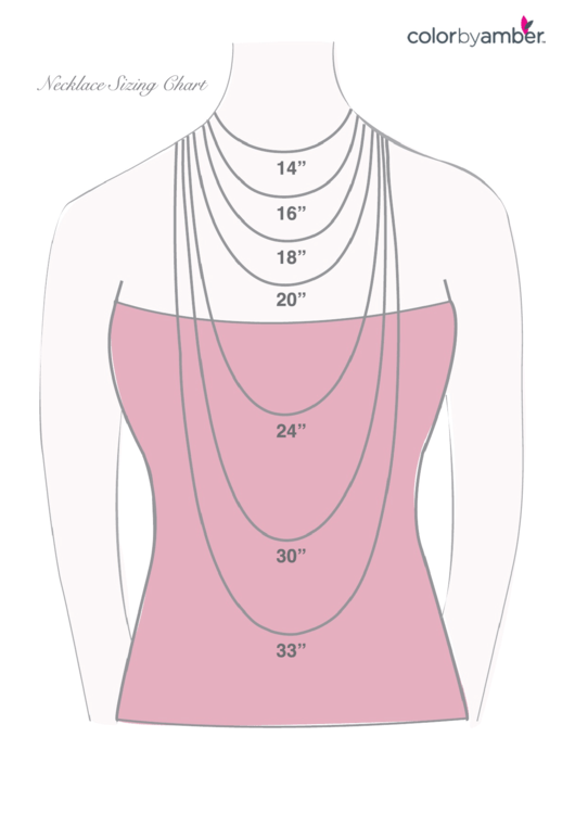 Color By Amber Necklace Sizing Chart Printable pdf