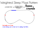 Sleep Mask Pattern Template