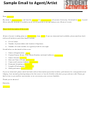 Sample Email To Agent/artist Template - Office Of Student Activities