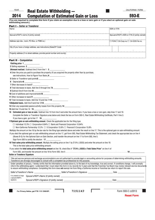 form 593 e - nomadconvoy.co