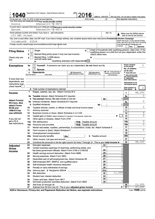 2016 federal estimated tax forms