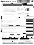 Form 503 - Maryland Tax Return - 2001