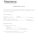 Health Insurance Form - Internexus