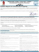 Forms Up-1, Up-2 - Holder Report For Unclaimed Property Form