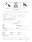 Adoption Application Form - Wags And Wishes Animal Rescue