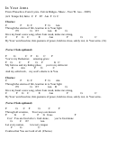 In Your Arms - By Calvin Bridges And Tore W. Aas - Chord Chart