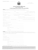 Claim Information Affidavit For Securities Form - Office Of The State Comptroller