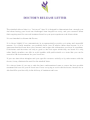 Doctor's Release Letter Template