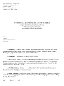 Personal Representative's Deed (upon Distribution From Testate Estate Of Community Real Property To Decedent's Surviving Spouse) Form