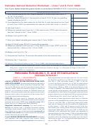 Nebraska Itemized Deduction Worksheet - Lines 7 And 8, Form 1040n