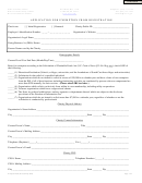 Application For Exemption From Registration - Secretary Of State