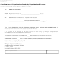 Form 3215 - Certification Of Equalization Study By Equalization Director
