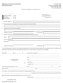 Form Sc-610-234 - Business Opportunity Application - Securities Division Department Of Financial Institutions