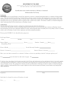 Notification And Authorization To Release Criminal - Information For Entry