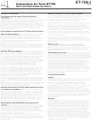 Instructions For Form Et-706 - New York State Estate Tax Return