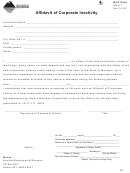 Affidavit Of Corporate Inactivity Form - Montana