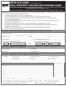 Form Rpie-ez - Real Property Income And Expense Form - 2009