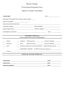 Fixed Asset Disposal Form - Berea College