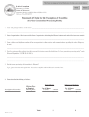 Form Se-1 - Statement Of Claim For The Exemption Of Securities Of A New Generation Processing Entity