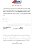 Bank Draft Action Form - 4 County Electric