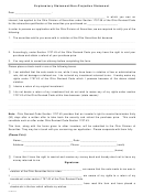 Explanatory Statement/non-prejudice Statement Form