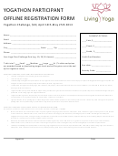 Yogathon Participant Offline Registration Form - Living Yoga