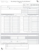 Form 15 - Wyoming Contractor Use Tax Return Form 2008