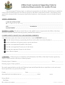 Affidavit And Agreement Supporting Claim By Authorized Representative For Another Person Form