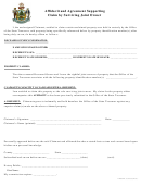 Affidavit And Agreement Supporting Claim By Surviving Joint Owner Form
