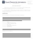 Activities Checklist - Crain/schuette Attorneys